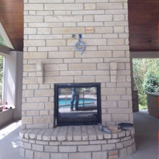 outdoor living spaces, masonry contractor <br/> college station, tx
